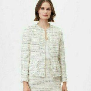 NEW Rebecca Taylor Textured Tweed Peplum Jacket 2